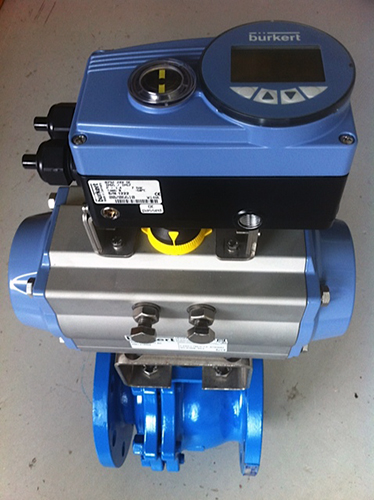 Burkert actuated control valve supplied to large rendering facility